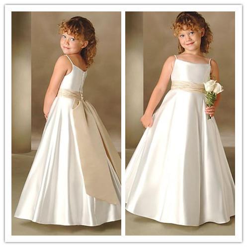 Flower Girl Dresses 2013 Lovely Floor Length Wedding Dresses A ...