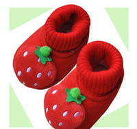Wholesale Toddler Winter Cotton Padded Shoes - Wholesale Children's shoes toddler shoes lovely strawberry shoes thick warm Cotton-padded shoes 12p
