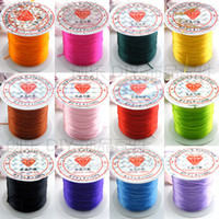 Wholesale Wholesale Stretch Cord Bracelets - 24 Roll Elastic Stretch Cord Thread Spool For Bracelets Necklace Jewelry Making 10m Roll Cheap Price