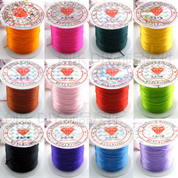 Wholesale Stretch Elastic Roll - 24 Roll Elastic Stretch Cord Thread Spool For Bracelets Necklace Jewelry Making 10m Roll Cheap Price
