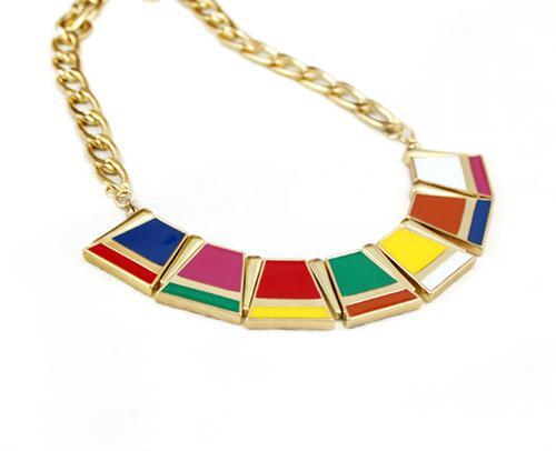 Marque ew Mode 18K plaqué or déclaration bulle bavoir acrylique collier pendentif cadeau de noël dame bijoux
