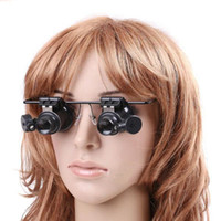 Magnifying 20X Double Layer Lens Magnification Lunettes Lunette de réparation de montre avec LED Light Tools