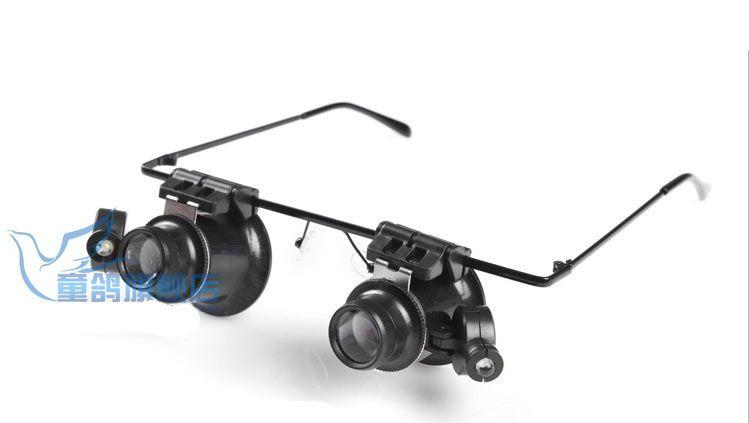 grossissant 20X Double Layer Lens Loupe Grossissement Regarder Réparation Loupe Avec LED Light Tools