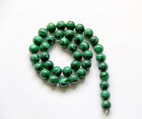 Wholesale Wholesale Zebra Stripe Beads - Charming Green Peacock Zebra Stripe Round Agate Beads Strands DIY Loose Spacer Beads 5 Strands lot