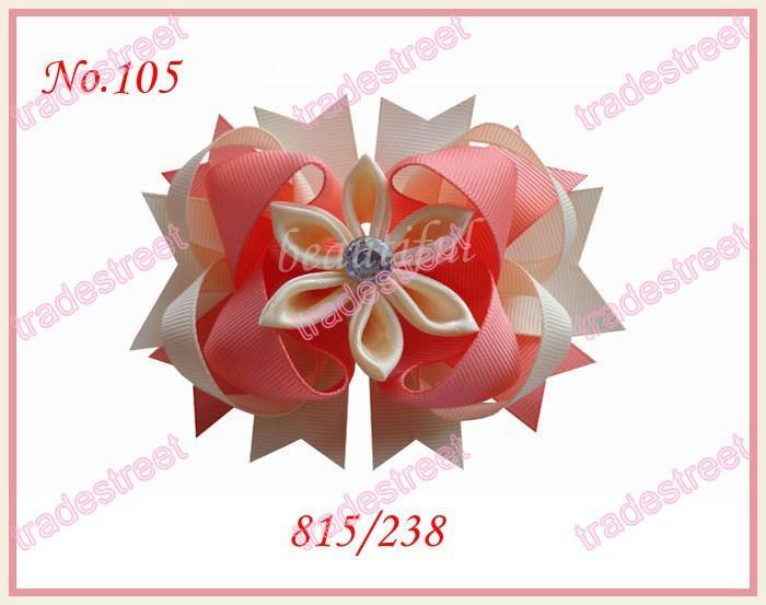 4.5'' Romantic hair bows fashion girl boutique hair bows pertty clips