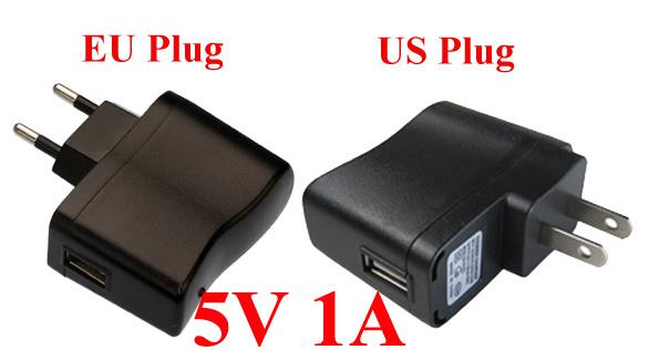 Universal power charger adapter 5V 1A USB Travel Wall 5V Adapter For MP3 MP4 Phone 200pcs/lot