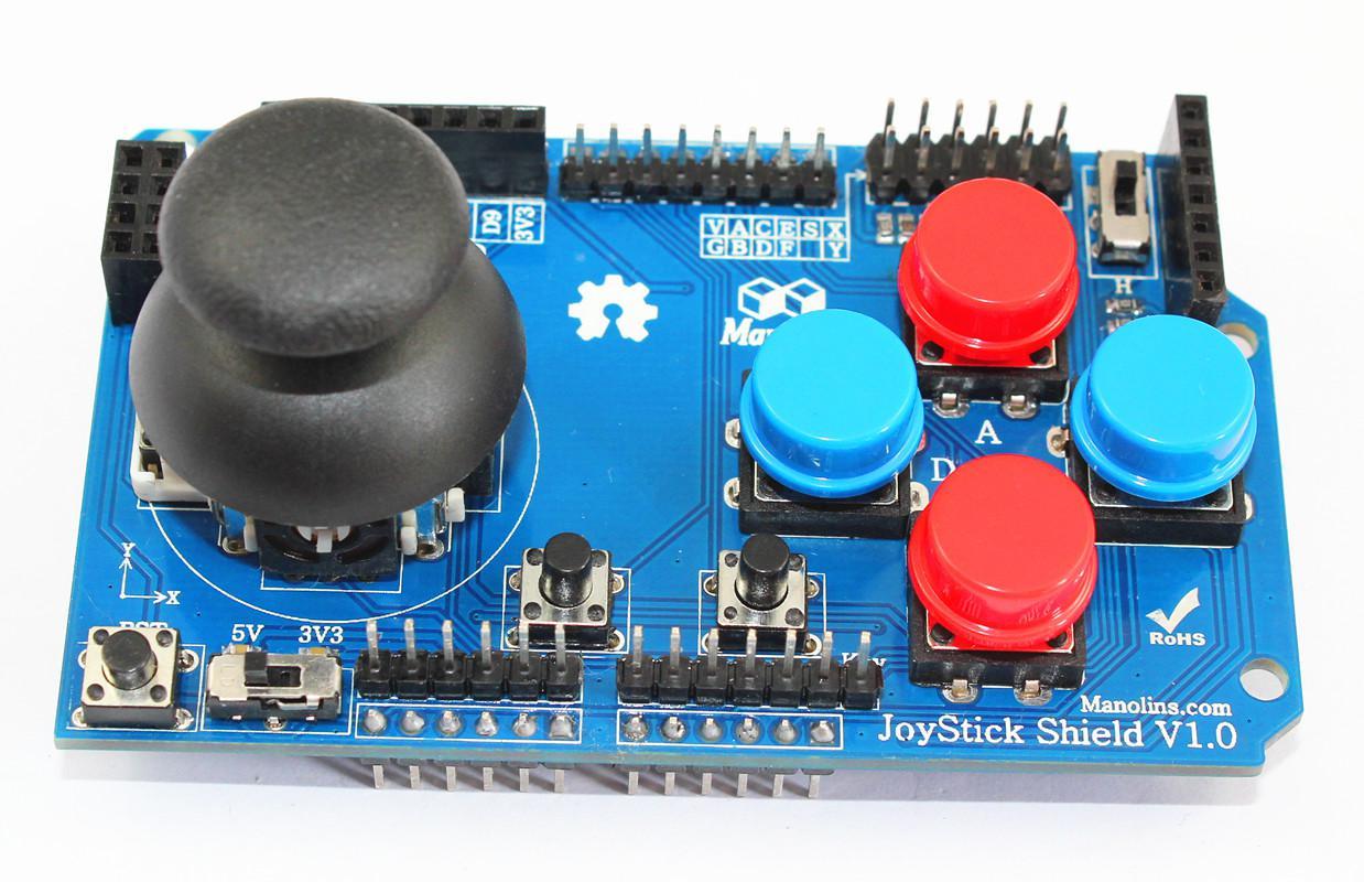 Gamepads joystick shield for arduino from manolins