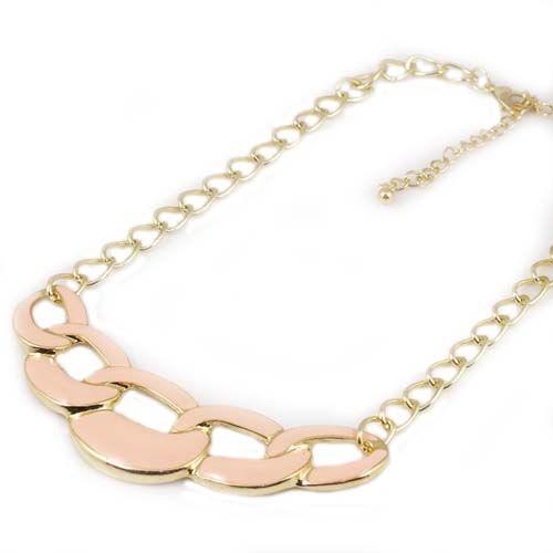 new Black/pink/blue gold plated statement bubble bib necklace Chain pendant 10pcs/lot punk style