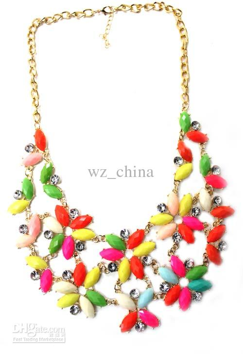 Brand New Red/mix color Fashion statement choker A+crystal necklace collar pendant 30cm