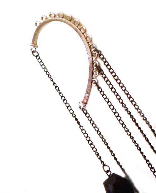 10% de réduction Brand New Fashion Vintage femmes acrylique chaîne oreille manchette boucles d'oreilles balancent boucles d'oreilles / cadeau de Noël