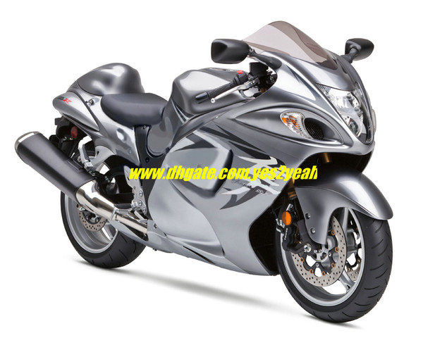 Motorcycle Fairing Kit For Suzuki Hayabusa Gsxr1300 08 09 Gsx R 1300 Gsx  1300r 08 09 2008 2009 Silver Grey Fairings Body Kit+7gifts Motorbike Parts