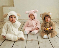 Wholesale Fleece Bodysuit - Best selling Autumn And Winter Baby Clothes Baby Clothing Coral Fleece Animal Style Clothing Romper Baby Bodysuit