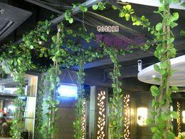 Plastic Green Vines Canada - High Simulation plants artificial silk plastic begonia Winding vine flowers Home Decor 10pcs lot