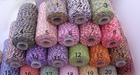 Wholesale Cotton Twine - HOT COTTON BAKER TWINE 21 COLORS GIFT PACKING DOUBLE COLOR COTTON TWINE