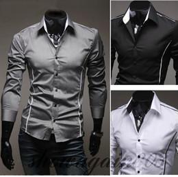 $enCountryForm.capitalKeyWord NZ - Hot Sale Men's Long Sleeve Shirts Cotton Lapel Mens Shirt Slim Dress Shirts For Men Business Shirts