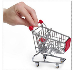 Wholesale Mini Shopping Cart Desktop small carts Creative mobile holder