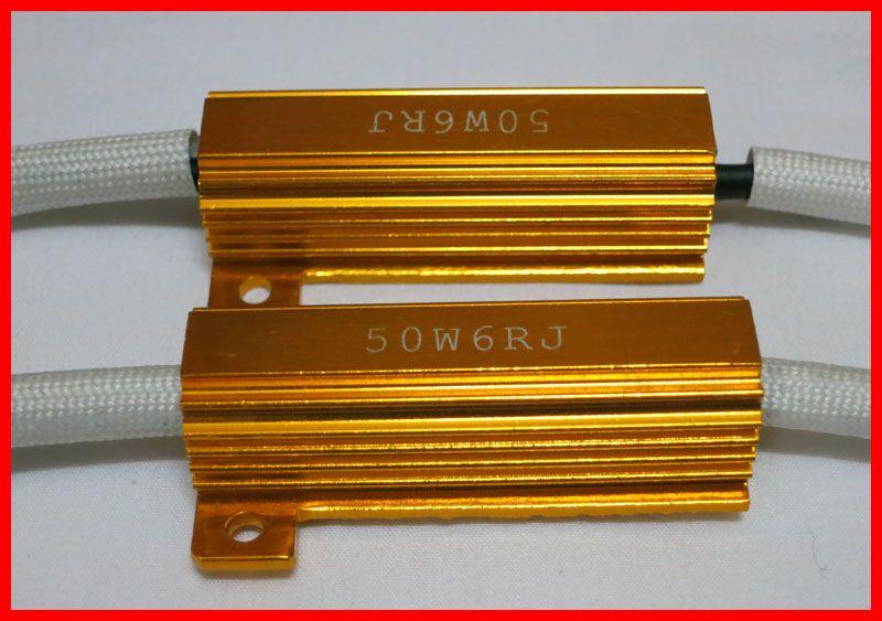50W oro Fusibile H8 H9 H4 H7 880 9005 9006 LED lampadina errore gratuito Canbus Resistor Decoder Canceller