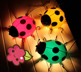 Wholesale Ladybug Light Lamp - Beetle wall lamp cartoon Ladybug lamp children room lights decorative lamps bed lamp night light