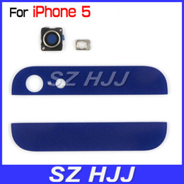 Wholesale Iphone Back Top Bottom - Top Bottom Glass Cover Replacement with Flash Diffuser For iPhone 5 Back Housing
