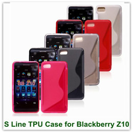 Wholesale Blackberry Protector Cover - New Arrival S Line Gel Skin Protector Cover Case for Blackberry z10 40PCS Free Shipping Chinapost