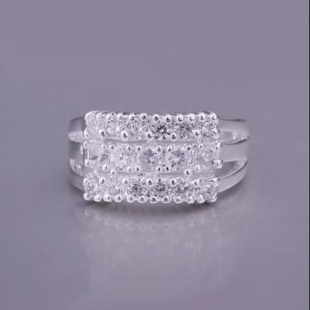 L'argento di alta qualità 925 ha intarsiato il trasporto libero / dei monili di modo dell'anello di fidanzamento di zircon