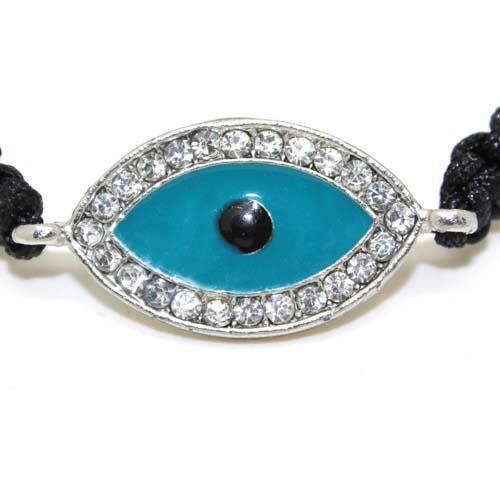 Free shipping Lowest price New Charm braided evil eye bracelet with Sparkling Rhinestones 10pcs/lot
