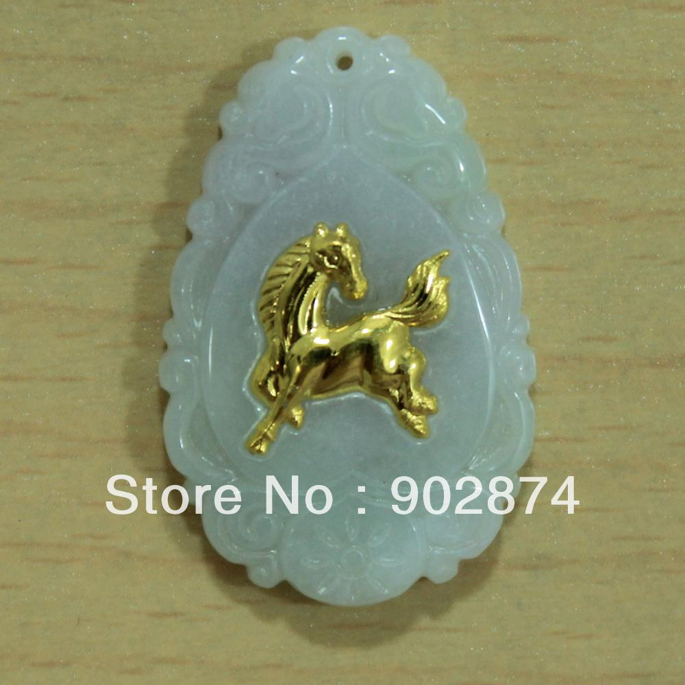 Wholesale natural grade a jade pure gold horse zodiac pendant wholesale natural grade a jade pure gold horse zodiac pendant jewelry 007 6 1 anchor pendant necklace gold circle pendant necklace from supermarketmall aloadofball Images