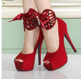 $enCountryForm.capitalKeyWord Canada - 2 Ways Sexy Red Black Leopard Peep Toe Platform Stiletto Dress shoes Size 34 40 3 Colors