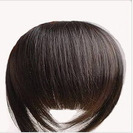 Discount human hair extensions bangs - 1pcs Bold & Blunt Hair Fringe,Hair bang, 100% human hair extension Made,10 colors available