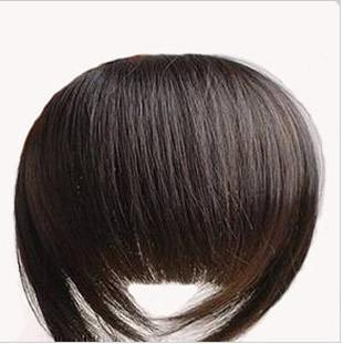 best selling 1pcs Bold & Blunt Hair Fringe,Hair bang, 100% human hair extension Made,10 colors available