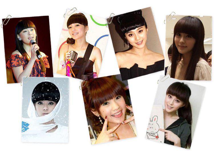 1 adet Moda Kalın Künt Saç Saçak, Saç patlama,% 100% İnsan saç Yapımı, 10 renk mevcuttur, Sıcak satış