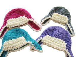 Wholesale Crochet Baby Cowboy Hats - 15%off!Baby cowboy hat cotton hat  Aviator Hat Crochet Pattern Crochet Ear Flap Hat Pattern! 1set