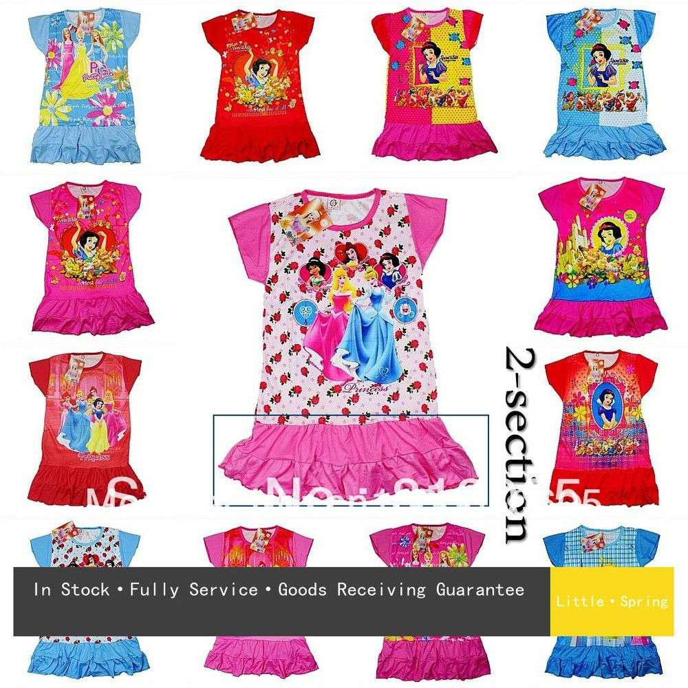 girls dress kid cartoon prints dress children princess summer dress 3 7years lit from sara001 4071 dhgatecom - Kid Prints