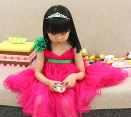Wholesale Booking Baby Girl Summer Clothing Strap Gauze Pink Dress Green Sashes AL6843