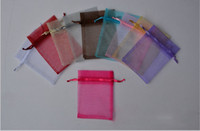 Wholesale Diy Organza Bags - assorted 9*12cm Jewelry Box Luxury Organza Jewelry Pouches Gifts Bags For Ring Wedding Gifts DIY