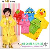 Wholesale Babies Rain Coats - New Animal Linda Children's baby Raincoat Kids boys girs Rain Coat rainwear