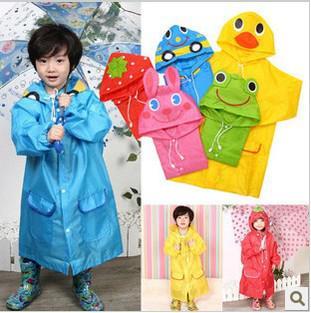 5 cor linda animal crianças raincoat engrenagem meninos rainwear rainwear impermeável casaco de chuva