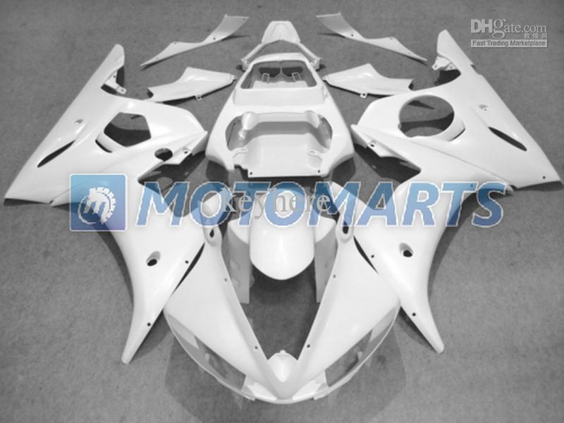 kit de carénage de moteur ABS tout corps blanc pour YAMAHA 2003 2004 carénages YZFR6 YZF 600 YZF R6 03-04 RX1A