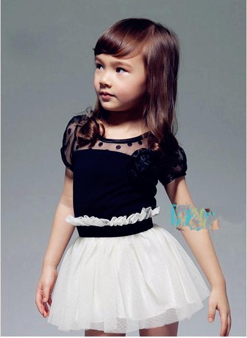 Girls Dresses Summer Dress Roses Veil Dresses Children's Clothing