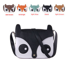 Wholesale Cheap Blue Bags - Cute little fox messenger bag Retro shopping bags fashion cheap The fox aslant bag