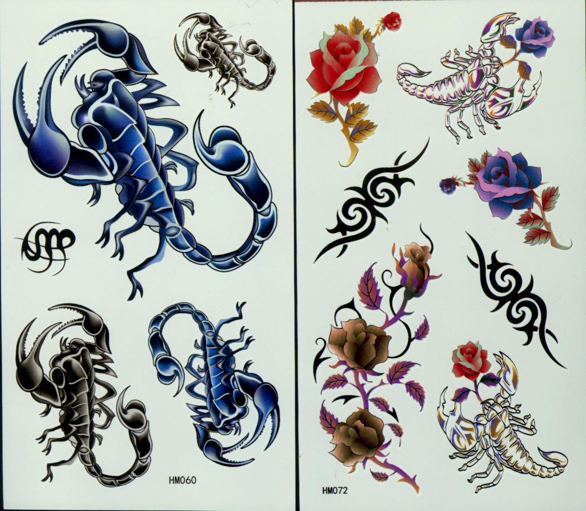 Tattoos Tattoos 50 sztuk / partia Tattoo dla Body Art Pająki Tatuaż Wodoodporna Ramię Tatuaże Naklejki