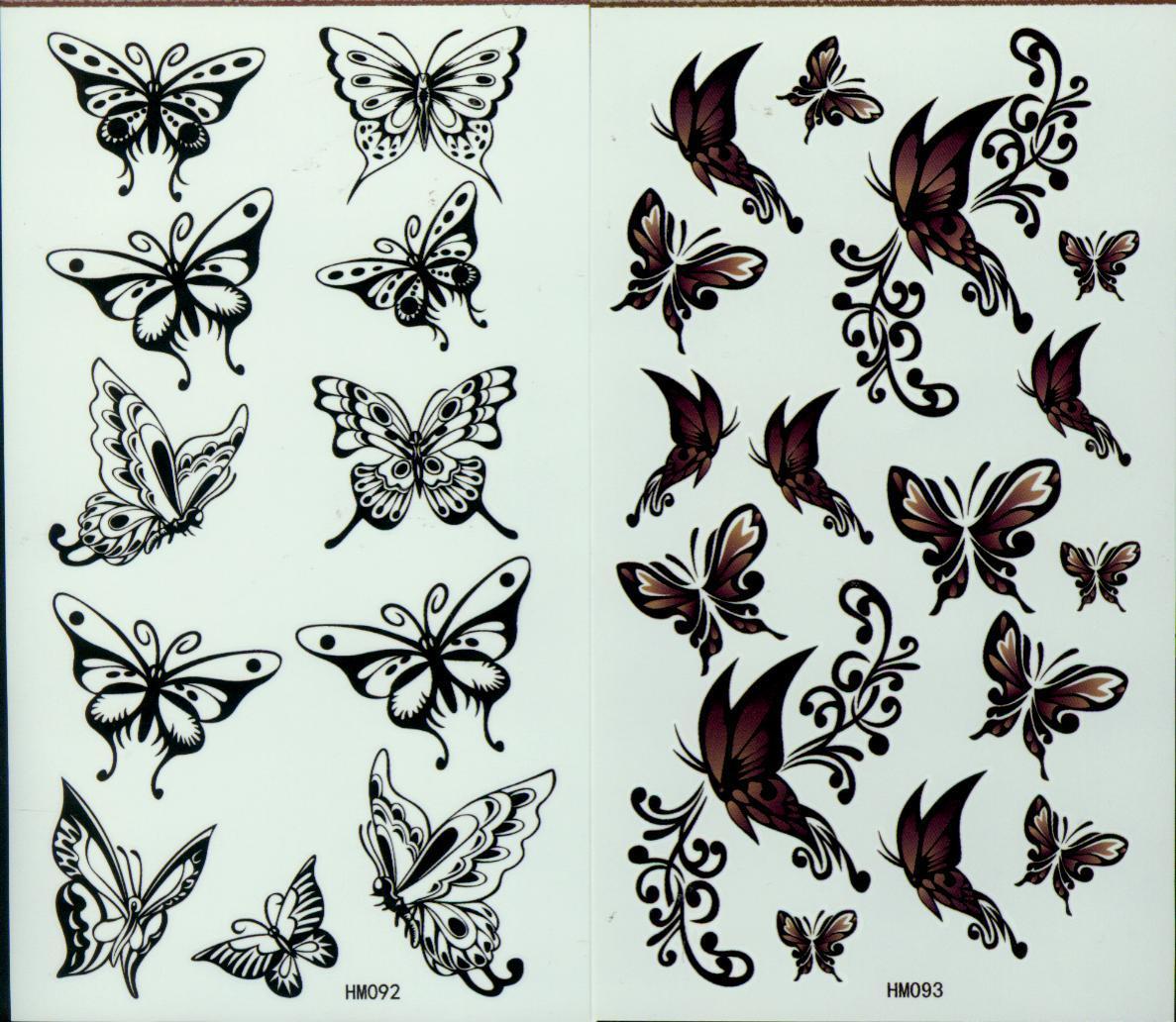 임시적인 귀영 나팔 / 많은 몸 방수 뉴스 나비 문신 206 * 105 밀리미터를위한 나비 귀영 나팔 스텐실