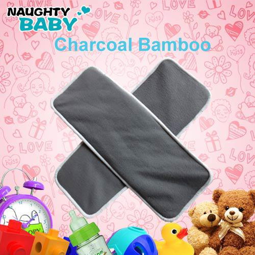top popular 30 pcs Washable Reuseable Charcoal bamboo Baby Cloth Diaper Nappy Inserts free shipping 2020