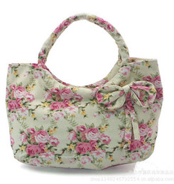 Wholesale Tweed Fabric Wholesale - 18pcs New Girl Women Handbags Purses Clutch Bag Cosmetic Bag Fashionable Handbags Gift shopping bag