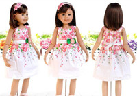 Wholesale Tutu Kind - Hotsale Muti-Kinds Summer Girl Dress Children Clothing Flower Dress Cotton Good qualiy 6 Size Beauti