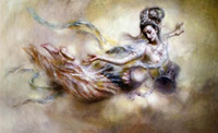 Wholesale Large Framed Oil Painting Canvas - Framed Dunhuang Kwan-yin goddess Flying fairy,Large 100% Handcrafts Art Oil painting On High Quality Canvas,Multi sizes Available DH029.