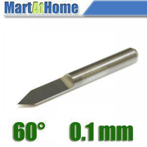 best selling 10PCS lot New Carbide PCB CNC Engraving V Bits 60 Deg 0.1mm for CNC Machinery #SM463 @CF