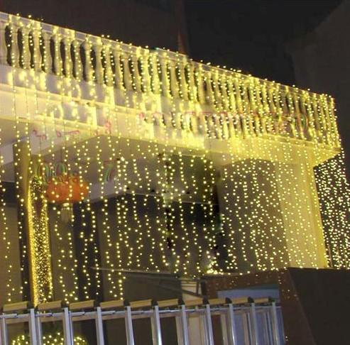 Banquete de boda LED carámbano cortina netas luces de Navidad lámparas de jardín nuestro dool led 110v-220v AU UK UE EE.UU. enchufe