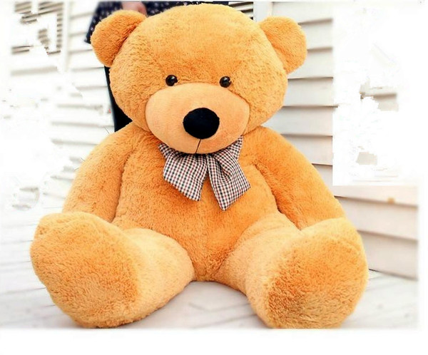 120cm Teddy Bear Plush Toy light Brown Stuffed Toys Color Lovely Gift