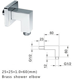 Wholesale Shower Head For Wall - Luxury in wall Shower fittings Brass Chrome for shower head connector NY94005